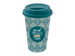 Кружка Travel Mug Good things take time 350мл R0129#TM01