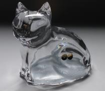 crystal bohemia Скульптура котик-копилка 17,5 см 71402/58900/175