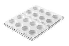 silikomart Набор форм для мороженого Диски La Gelateria 6,3см BISC02