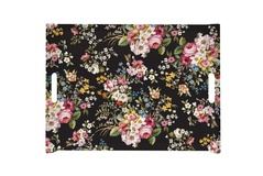 Поднос Blooming Opulence -black 52x37см