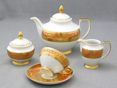 Чайный сервиз Constanza Royal Salmon Gold 6/15