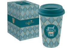 Кружка Travel Mug Good things take time 350мл R0129#TM01 - Мир посуды
