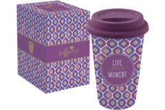 Кружка Travel Mug Live every moment 350мл R0129#TM03