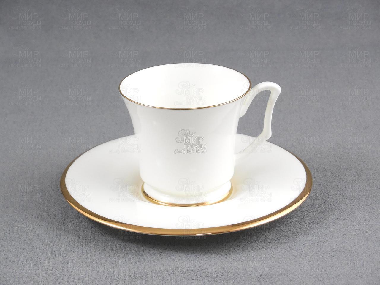 2 предмета.Материал: Костяной фарфор.Производитель: Императорский фарфор / Россия.Кофейная чашка